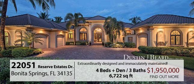 22051 Reserve Estates Drive Naples, FL